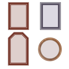 frames for photos, postcards, paintings and printing. baguette of different colors and cross-sections. use in their projects. isolate on white background.
