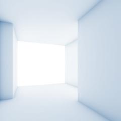 Abstract contemporary interior, empty room 3 d