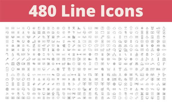 480 Line Icons