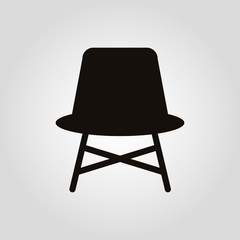 Simple chair isolated vector flat icon