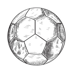 Isolated sketch of a soccer ball, Vector illustration