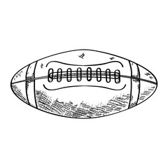 Isolated sketch of a football ball, Vector illustration