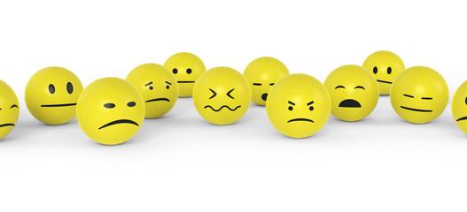 Unzufriedene Smileys