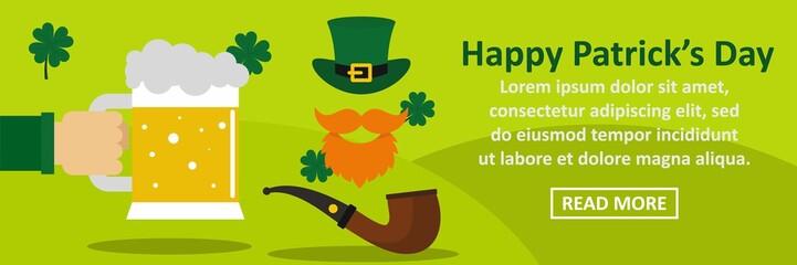 Happy Patricks Day banner horizontal concept