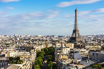 Paris cityscape with Eiffel Tower. Paris, France