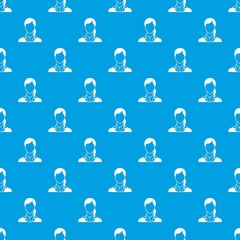 Woman pattern seamless blue