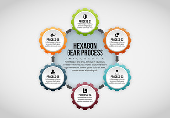 6 Section Hexagon Gear Infographic