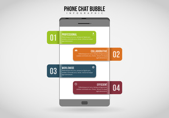 Mobile Phone Chat Bubble Infographic 1