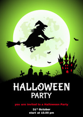 Happy Halloween   background  for  flyer or party  invitation.