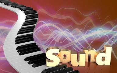 3d blank piano keys