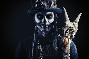 skull makeup male