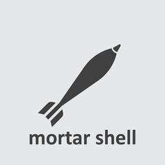 Military mortar bomb icon