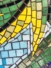 Colorful mosaic pattern on a wall