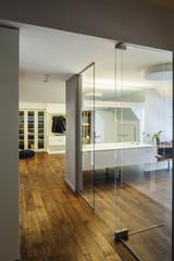 Modern bathroom and wardrobe