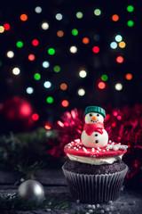 Christmas chocolate cupcake