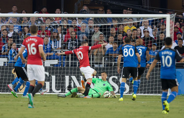 Soccer: San Jose Earthquakes vs Manchester United