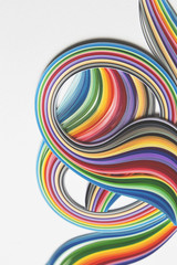 Curves of colourful paper strips...