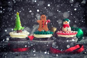 Christmas decorative cupcakes