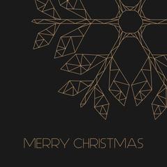 moderne Weihnachtskarte - goldene Schneeflocke