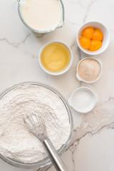 baking ingredients, for cake, pancake or waffles