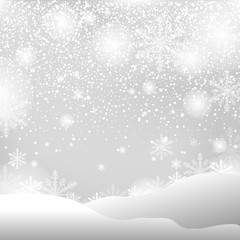 christmas snow and winter background vector illustration