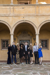 Group of Wealthy Young People