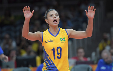 Olympics: Volleyball-Women's Team-Preliminary Round Group A-Brazil (BRA) vs Cameroon (CMR)