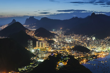 View of Downtown Rio De Janeiro from Sugarloaf Mountain