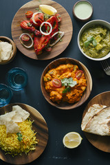 Assorted Indian dishes from above