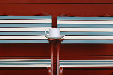 Cup of Coffee by the Pool in San Francisco