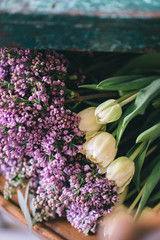 Tulips and lilacs