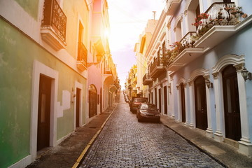 San Juan streets on a bright sunny day