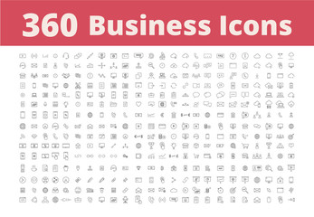 360 Business Icons