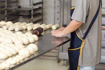 Bakery thai food,prepare knead dough before the oven