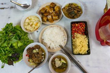Ban cha meal set