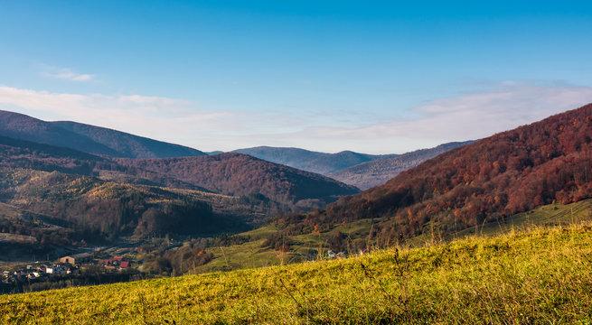 grassy hillside in mountainous rural area