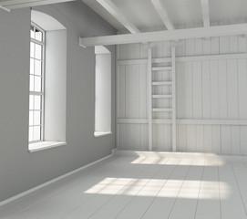 emty interior room 3d render image
