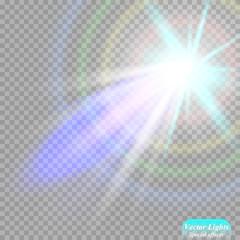 Vector spotlight. Light effect. searchlight