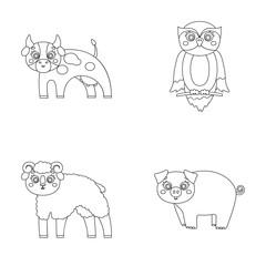 Forest, ecology, toys and other web icon in outline style.Animals, farm, enterprises icons in set collection.