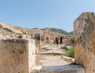 Tomb of St.Philip and Aghiasma (Sanctuary Fountain) in ancient Greek city Hierapolis, Pamukkale, Turkey.