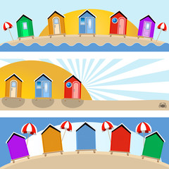 beach hut banners
