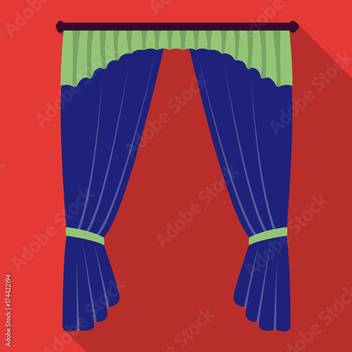 Cornice Single Icon In Flat Stylecornice Vector Symbol Stock