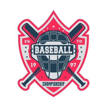 Professional baseball championship vintage label