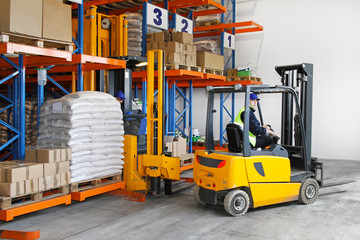 Forklift in Warehouse Logistics