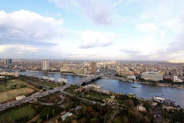 Panorama of Cairo Egypt