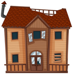 Old house made of wood