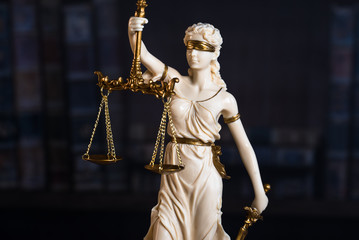 Statue of Justice. Law theme