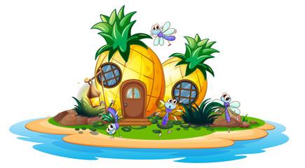 Pineapple house on island