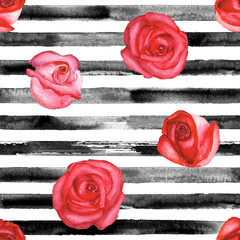 Red roses and black stripes