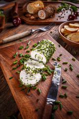 Cheese with chives